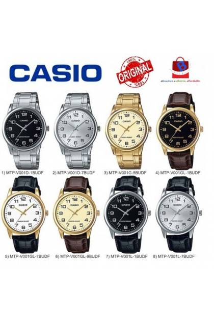 Casio MTP-V001 Series Original & Genuine Men's Watch