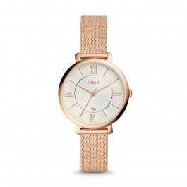 FOSSIL ES4352 Jacqueline Three-Hand Rose Gold-Tone Stainless Steel Watch