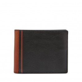 Fossil Jerome Flip Id Bifold Wallets Black ML4028001