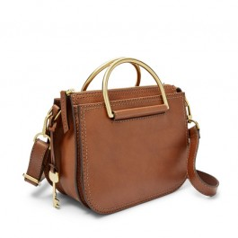 Fossil Ryder Mini Satchel Brown ZB7660200