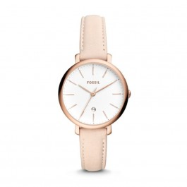 Fossil ES4369 Jacqueline Three-Hand Date Pastel Pink Leather Watch