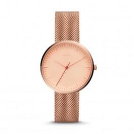 Fossil ES4425 Essentialist Three-Hand Rose Gold-Tone Stainless Steel Watch