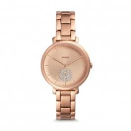Fossil ES4438 Jacqueline Three-Hand Rose Gold-Tone Stainless Steel Watch