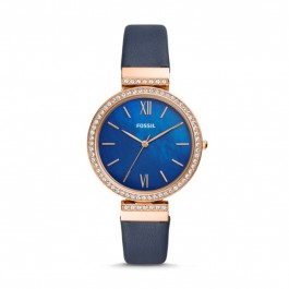 Fossil ES4538 Madeline Three-Hand Navy Leather Watch