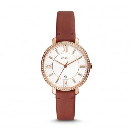 FOSSIL ES4413 Jacqueline Three-Hand Date Terracotta Leather  Watch