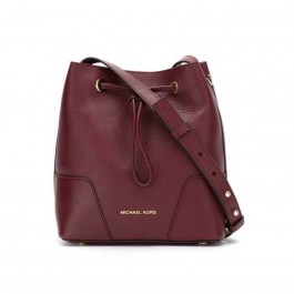 Michael Kors Cary Pebbled Leather Crossbody Bag - Oxblood 30F8G0CM1T-610