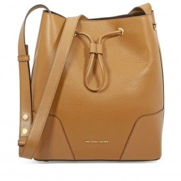 Michael Kors Marigold Pebbled Leather Cary Bucket Bag Crossbody Purse 30F8G0CM1T-706
