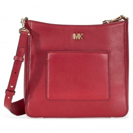 Michael Kors Gloria Leather Messenger Bag - Red 30F8GG0M2L-550