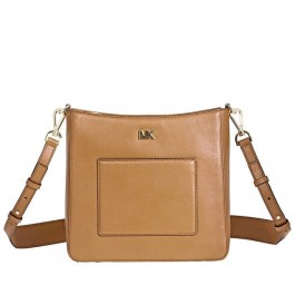 Michael Kors Gloria Leather Messenger Bag- Acorn 30F8GG0M2L-203