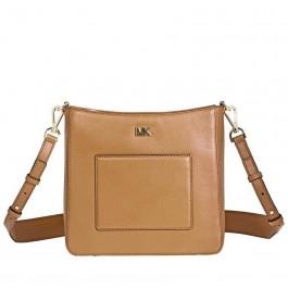 e65e74492e69 Michael Kors Gloria Leather Messenger Bag- Acorn 30F8GG0M2L-203