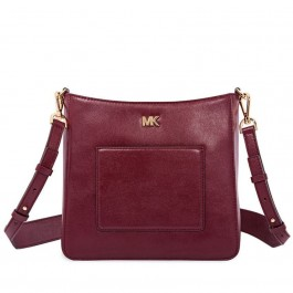 Michael Kors Gloria Leather Messenger Bag - Oxblood 30F8GG0M2L-610