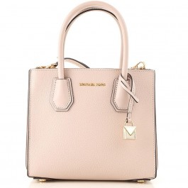 Michael Kors Mercer Medium Pebbled Leather Crossbody Bag - Soft Pink 30F8GM9M2T-187