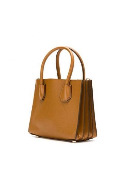 Michael Kors Mercer Medium Pebbled Leather Crossbody Bag - Farfetch Brown 30F8GM9M2T-203