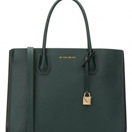 Michael Kors Mercer Large Pebbled Leather Tote - Racing Green 30F8GM9T3T-305