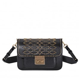 Michael Kors Sloan Studded Leather Shoulder Bag - Black 30F8GS9L3U-001
