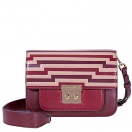 Michael Kors Sloan Editor Tri-Color Leather Shoulder Bag- Oxblood 30F8GS9L9X-610