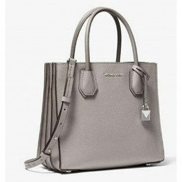 Michael Kors Mercer Medium Messenger, Women's Cross-Body Bag, Pearl Grey-30F8SM9M2T-081