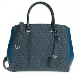 Michael Kors Benning Signature Logo Print Tote Bag - Blue 30F8SN4S3B-489