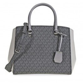 Logo print with signature Michael Kors Benning Bolsón Bag Grey-30F8SN4S3B-864