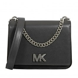 Michael Kors NEW Black Silver Nolita Leather Mini Crossbody 30F8SOXL7T-061