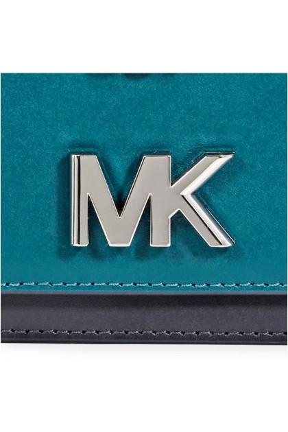 Michael Kors Mott Leather Crossbody - Teal 30F8SOXL7T-346