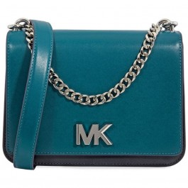 Michael Kors Mott Leather Crossbody - Teal 30F8SOXL7T-346