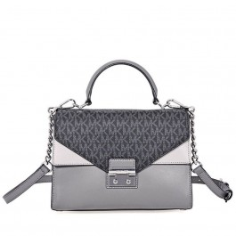 Michael Kors Sloan King Leather Medium Satchel - Grey 30F8SSLS2V-864
