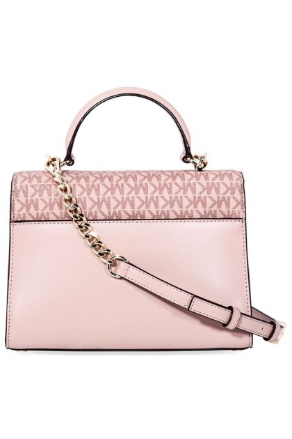 Michael Kors Sloan Leather Medium Satchel - Pink/Multi 30F8TSLS2V-982