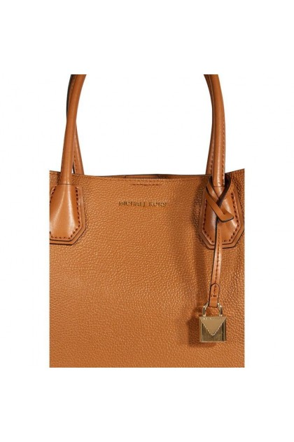 Michael Kors Mercer Medium Leather Satchel - Acorn 30H7GZ5T6A-203