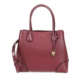 Michael By Michael Kors Women's Burgundy Leather Handbag-30H7GZ5T6A-610