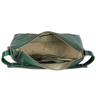 Michael Kors Crosby Large Pebbled Leather Shoulder Bag - Racing Green 30H8GCBL3L-305