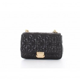Michael Kors Sloan Large Quilted-Leather Shoulder Bag - Black 30H8GSLL3T-001