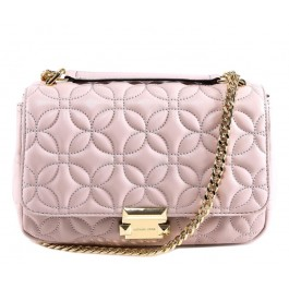 Michael Kors Sloan Quilted Leather Shoulder Bag - Soft Pink 30H8GSLL3T-187