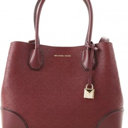 Michael Kors Mercer Gallery Perforated Floral Tote Medium - Oxblood MK 30H8GZ5T6T-610