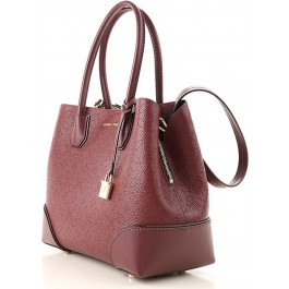 Michael Kors Mercer Gallery Medium Tote - Oxblood 30H8GZ5T6T-610