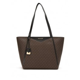 Michael Kors bag MICHAEL KORS LG TZ TOTE Lady's tote bag BROWN/BLK brown 30S8GN1T3B-292
