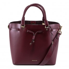 Michael Kors Blakely Medium Bucket Bag - Burgundy 30S8GZLM2L-610