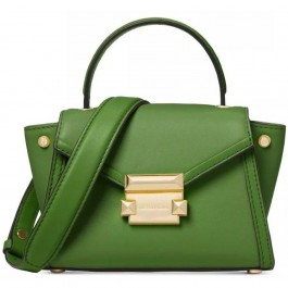 Michael Kors Whitney Mini Leather Satchel - True Green 30T8GXIM1L-304