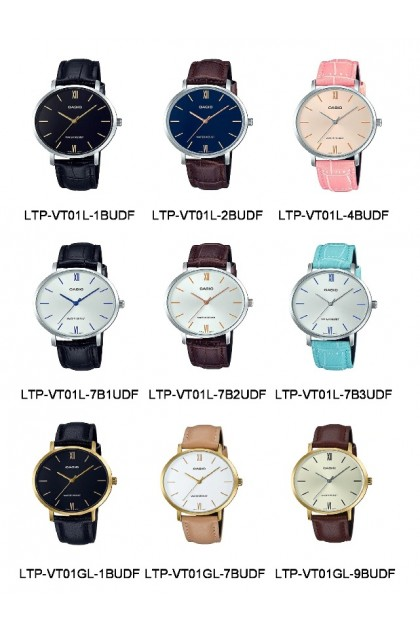 Casio LTP-VT01L / LTP-VT01GL Original & Genuine Leather Series Ladies Watch