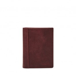 Fossil Neel Trifold Black Cherry Leather Wallet ML3869014