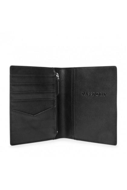 Fossil Passport Case Leather RFID Wallet Black MLG0358001
