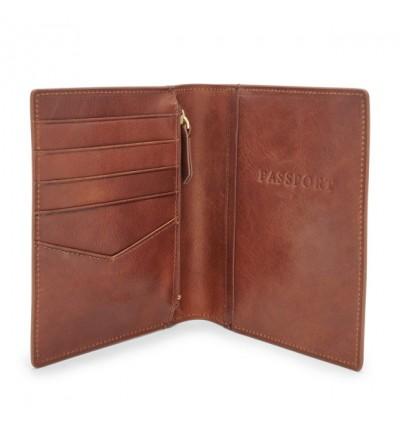 Fossil Passport Case Leather RFID Wallet Cognac MLG0358222