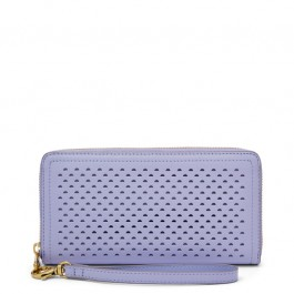 Fossil Logan Rfid Zip Around Clutch Wallet LILAC SL7862534