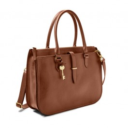 Fossil Women's Ryder Large Satchel Brown Bag ZB7626200