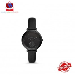 Fossil Women's JACQUELINE Three-Hand Black Leather Watch ES4490