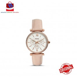 Fossil Women's CARLIE MULTIFUNCTION Rose Gold-Tone Leather Watch ES4544