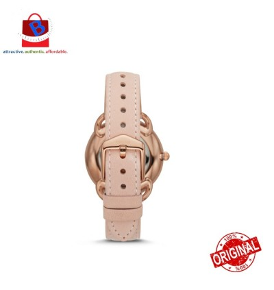 Fossil Women's TAILOR Three-Hand Blush Leather Watch ES4546