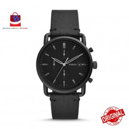 Fossil Men's FS5504 Commuter CHRONOGRAPH Black Leather Watch