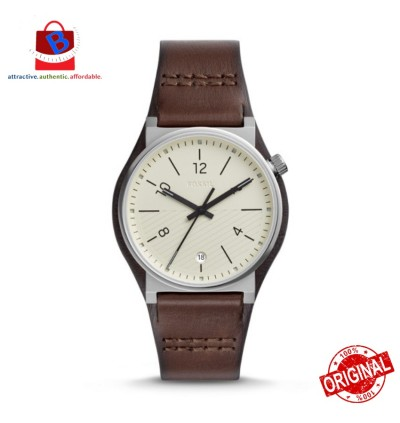Fossil Men's FS5510 BARSTOW Three-Hand Brown Leather Watch