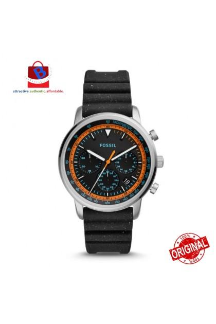 Fossil Men's FS5520 Goodwin Chronograph Black Silicone Watch